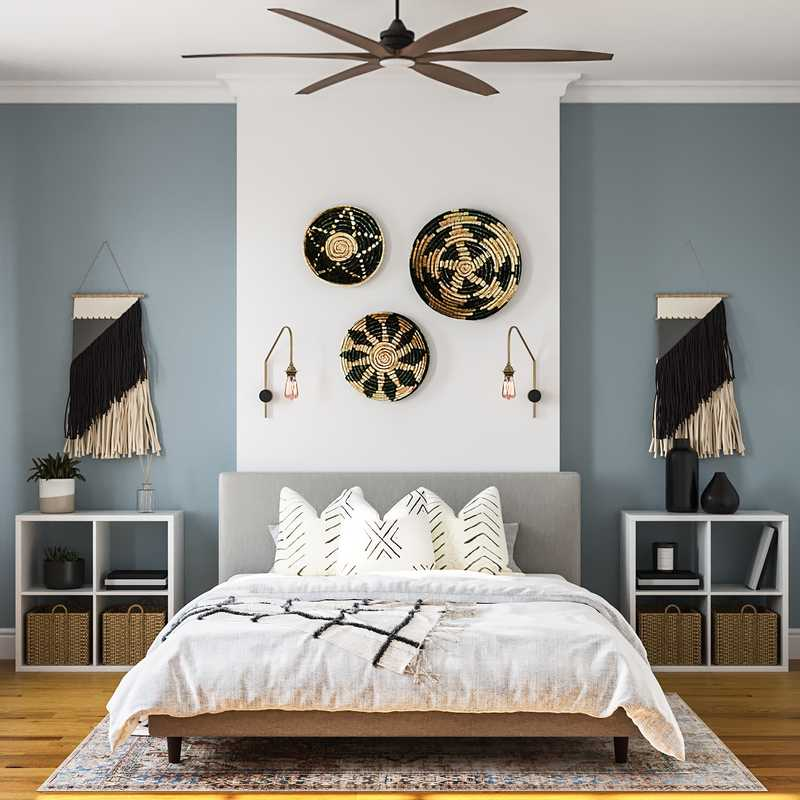Eclectic, Bohemian, Rustic Bedroom Design by Havenly Interior Designer Brittany