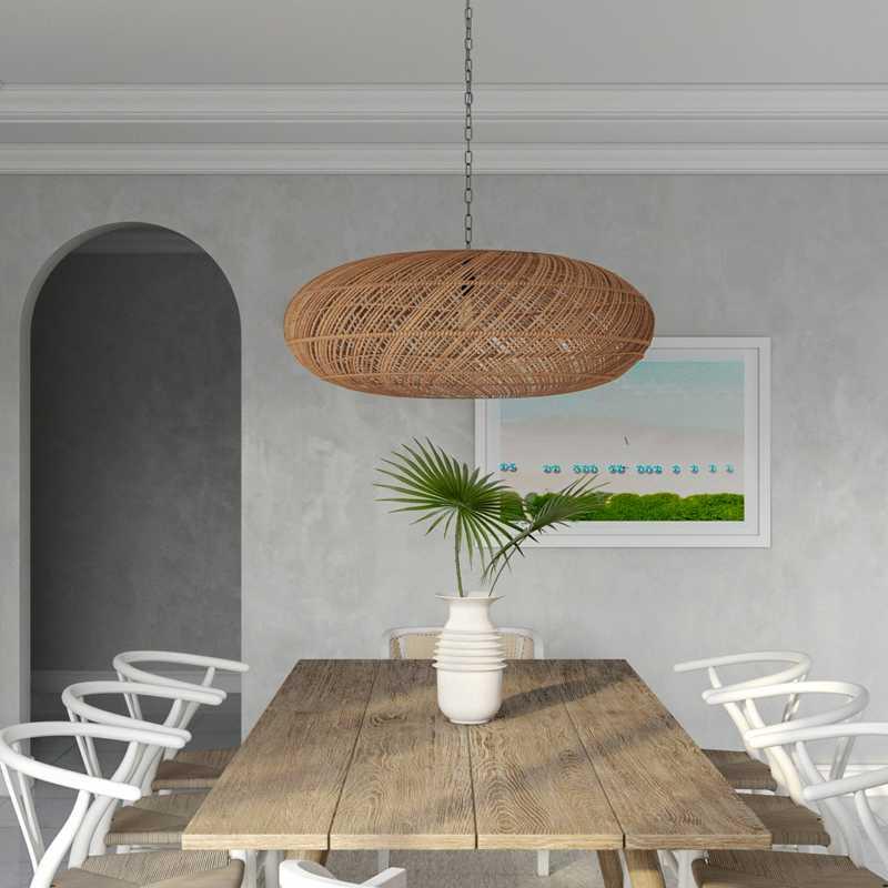 Coastal Dining Room Design by Havenly Interior Designer Stacy