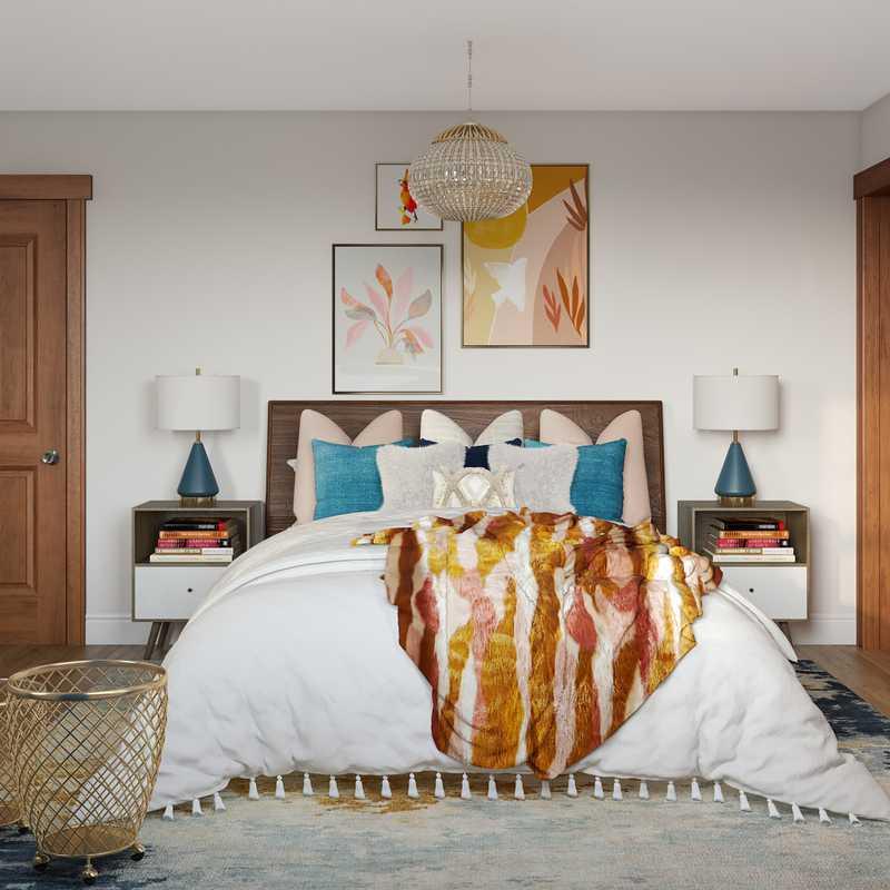 Modern, Bohemian Bedroom Design by Havenly Interior Designer Amanda
