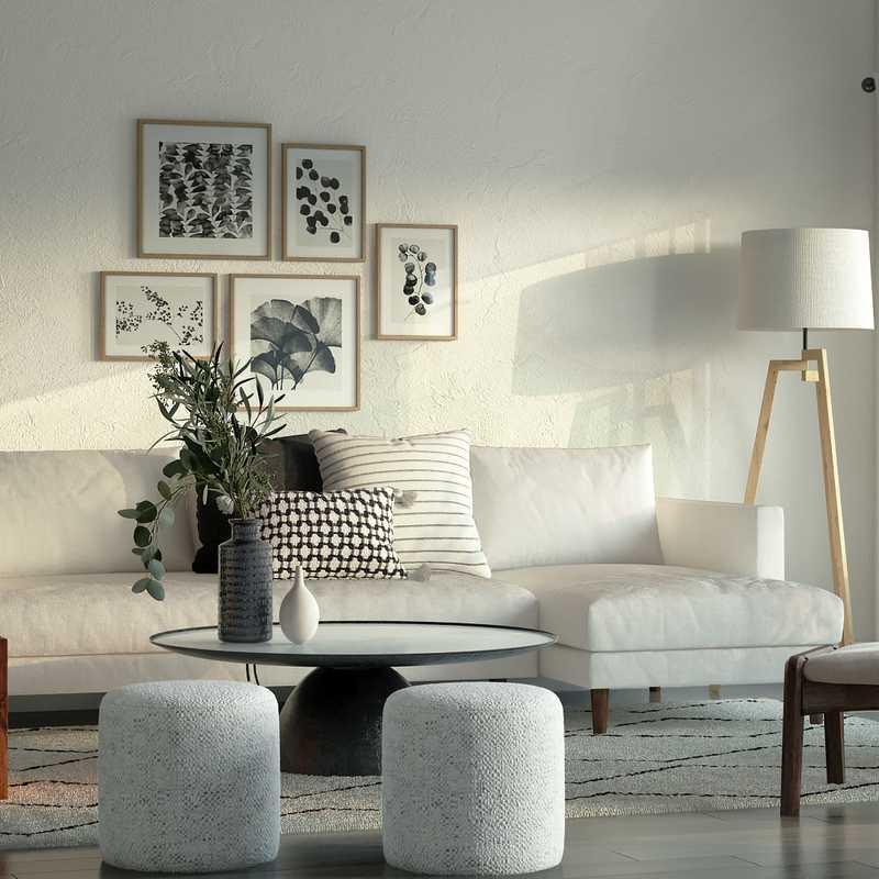Modern, Midcentury Modern, Scandinavian Living Room Design by Havenly Interior Designer Ana