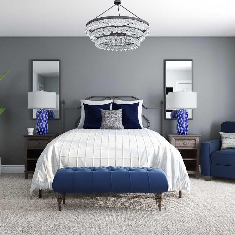 Glam, Farmhouse Bedroom Design by Havenly Interior Designer Austin