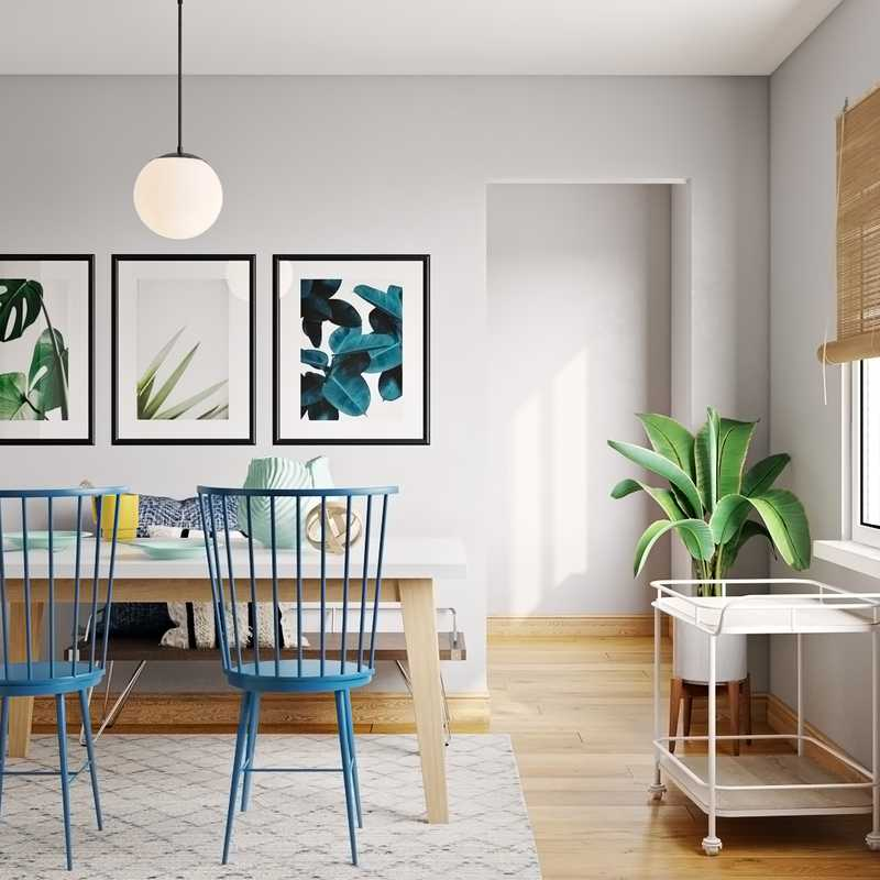 Eclectic, Bohemian, Midcentury Modern Dining Room Design by Havenly Interior Designer Aleena