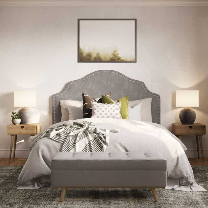 Contemporary, Modern, Eclectic, Farmhouse, Transitional, Global, Southwest Inspired, Midcentury Modern, Minimal, Scandinavian Bedroom Design by Havenly Interior Designer Laura