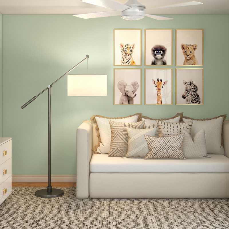 Modern, Bohemian Nursery Design by Havenly Interior Designer Leah
