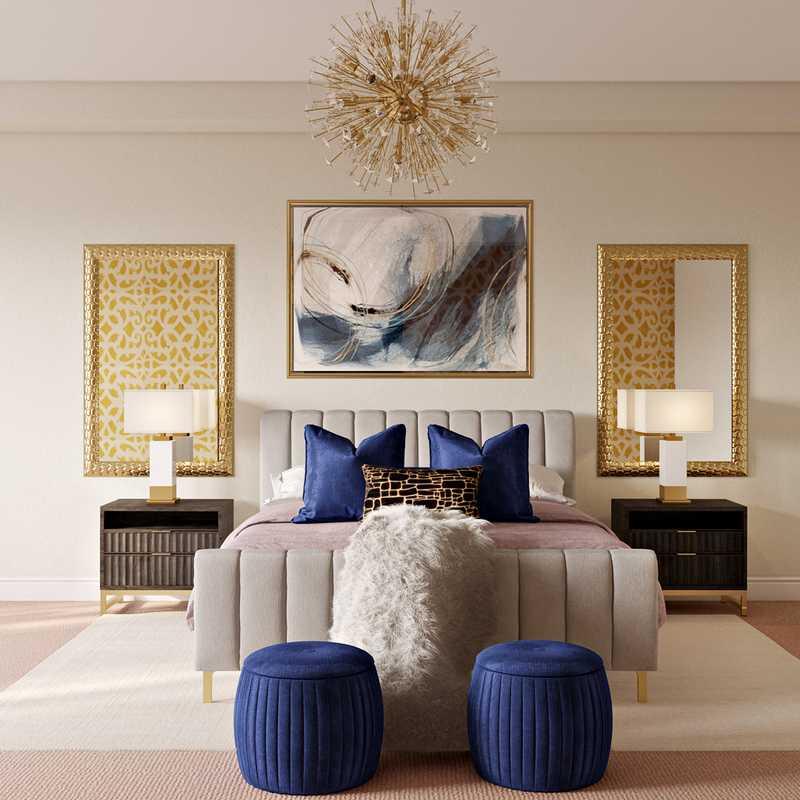 Contemporary, Glam Bedroom Design by Havenly Interior Designer Randi