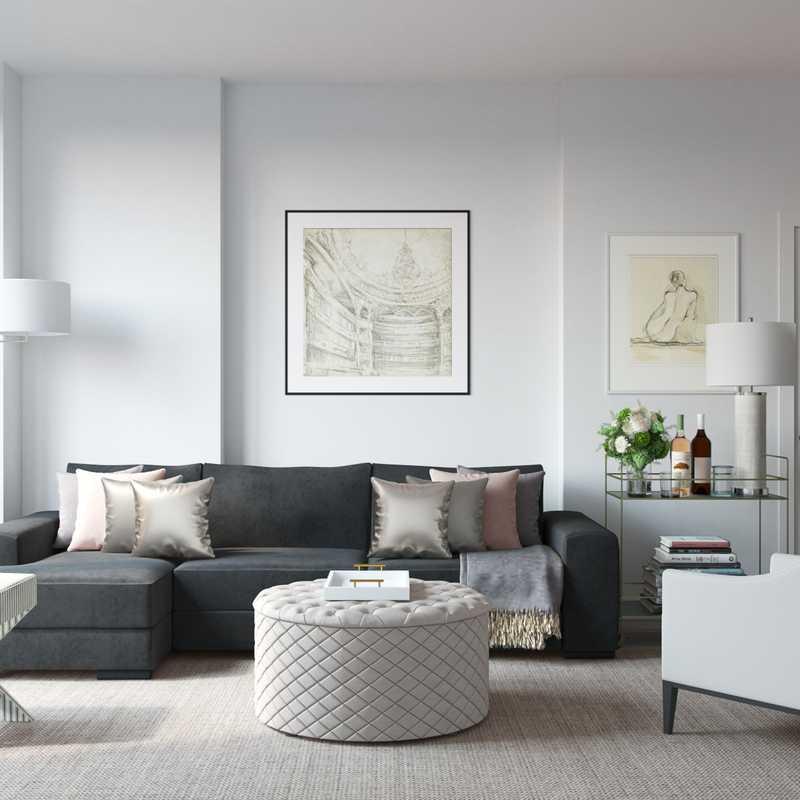 Living Room Design by Havenly Interior Designer Vivian