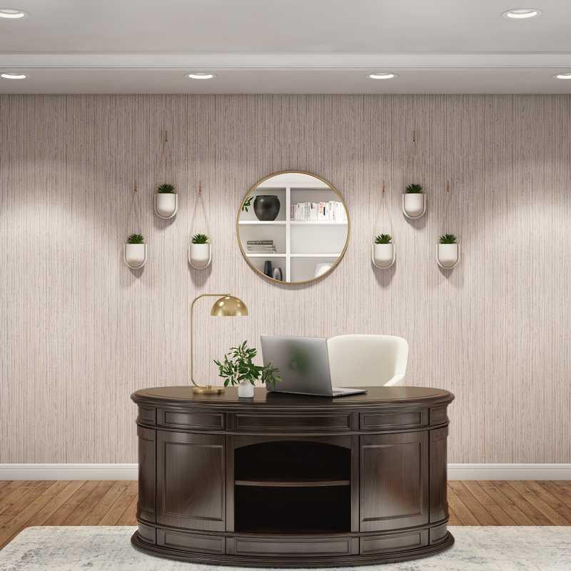 Bohemian, Glam Office Design by Havenly Interior Designer Sarah
