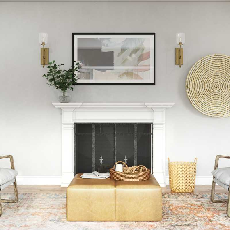 Modern, Bohemian Living Room Design by Havenly Interior Designer Laura