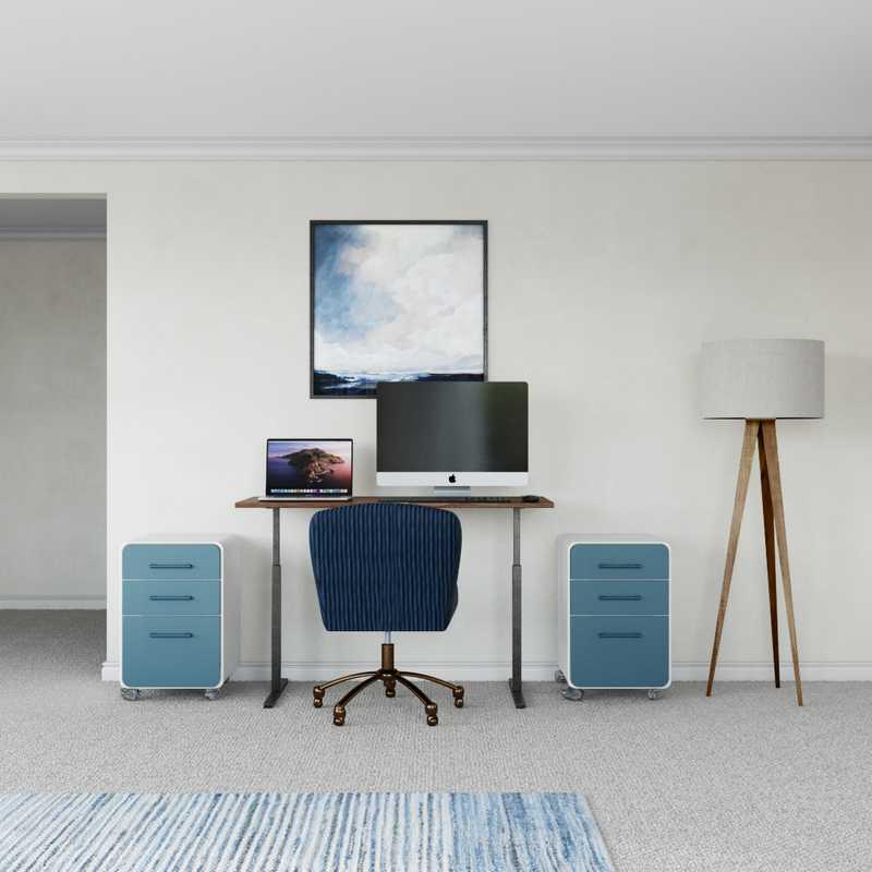 Modern, Traditional Office Design by Havenly Interior Designer Morgan