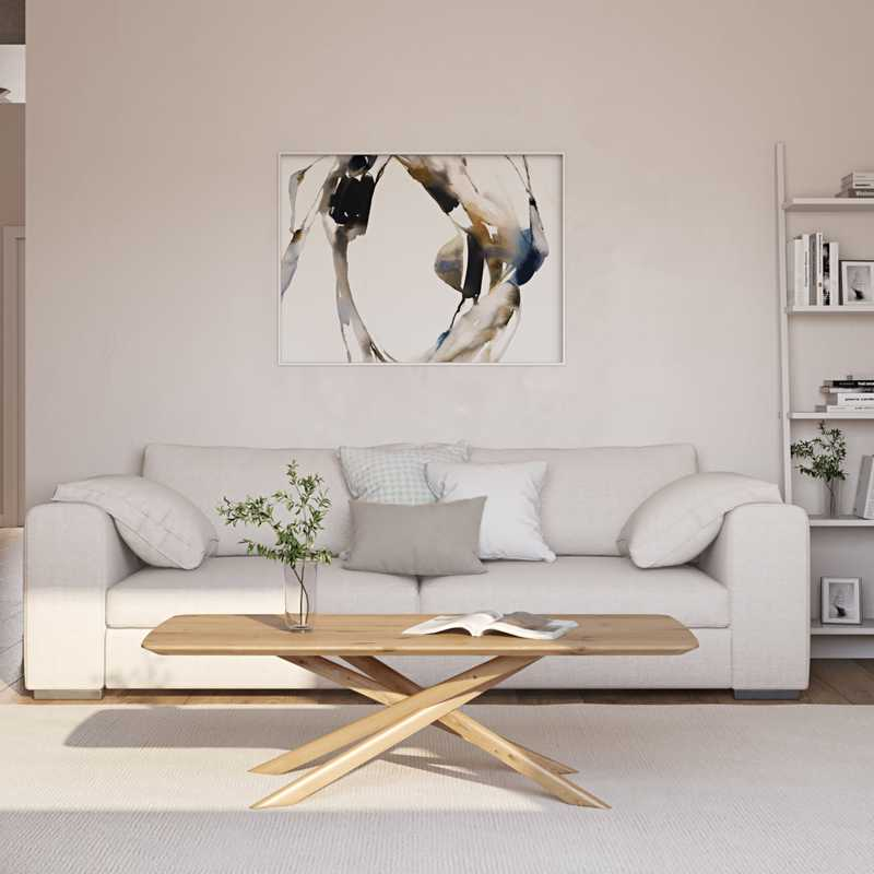 Scandinavian Living Room Design by Havenly Interior Designer Rita