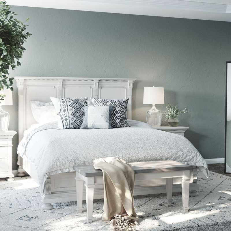 Coastal, Farmhouse, Rustic Bedroom Design by Havenly Interior Designer McKenzi