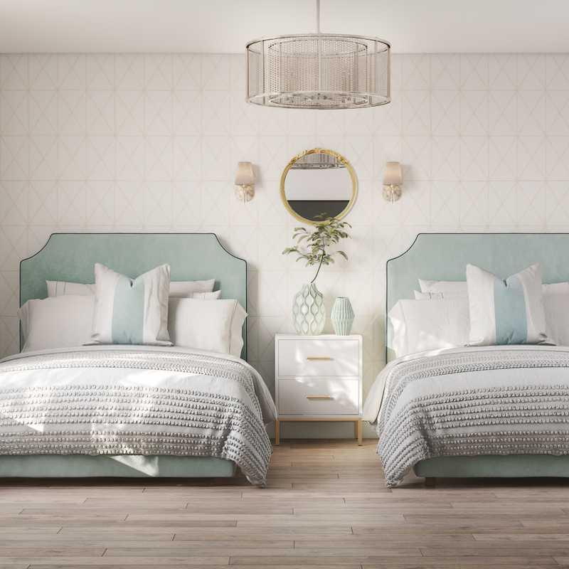 Coastal, Glam Bedroom Design by Havenly Interior Designer Ana