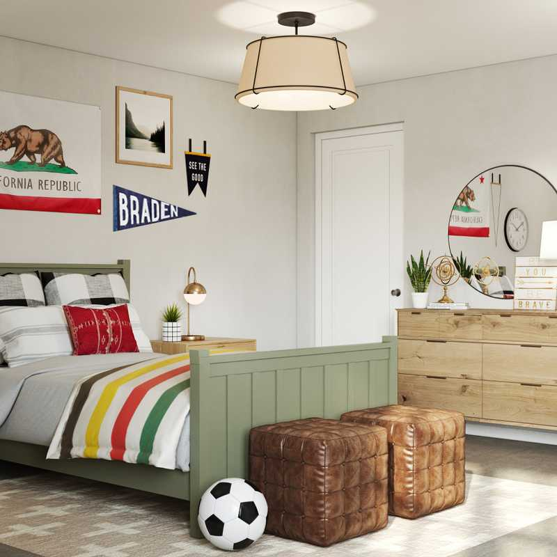 Classic, Eclectic Bedroom Design by Havenly Interior Designer Kelsey