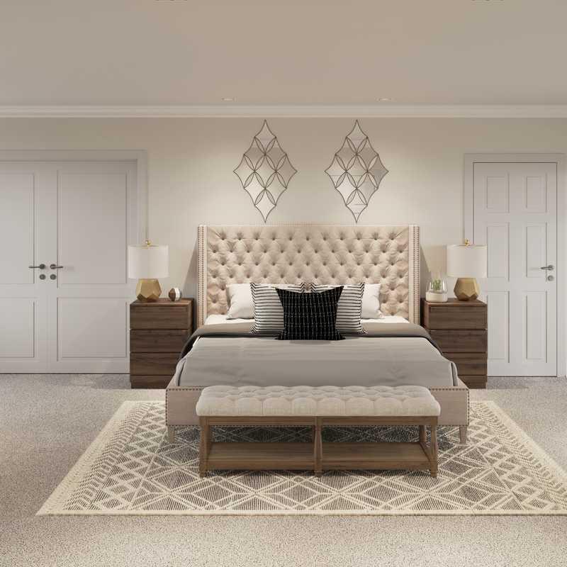 Modern, Bohemian, Transitional Bedroom Design by Havenly Interior Designer Shruti