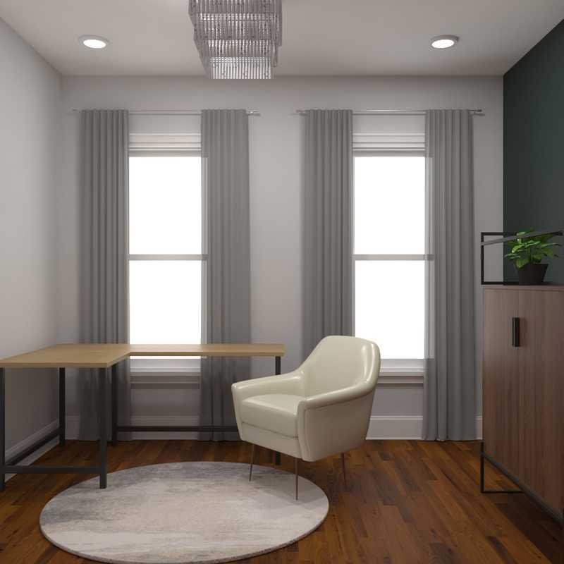 Midcentury Modern, Minimal, Scandinavian Office Design by Havenly Interior Designer Jenna