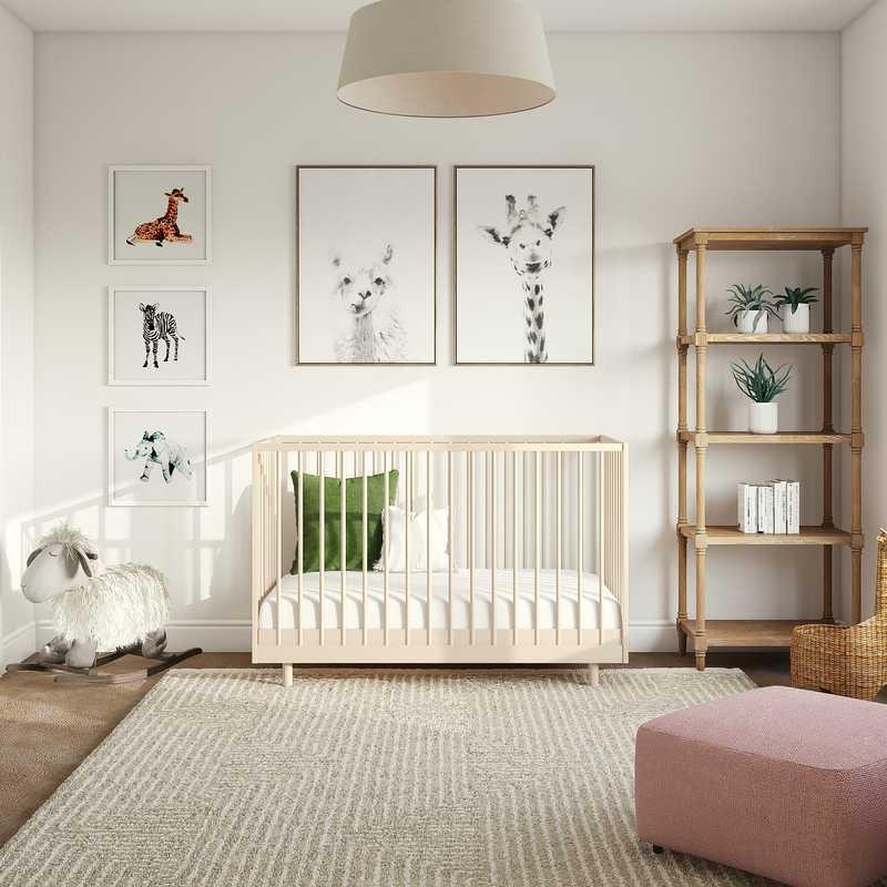 Modern, Classic, Bohemian Nursery Design by Havenly Interior Designer Maggie