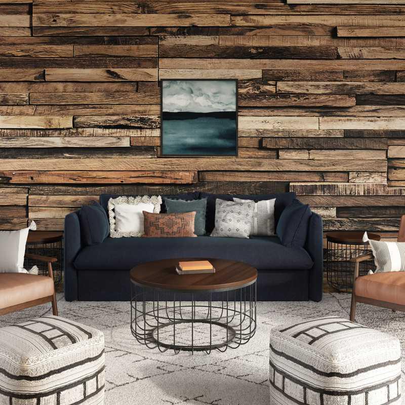 Contemporary, Modern, Rustic Living Room Design by Havenly Interior Designer Stephanie