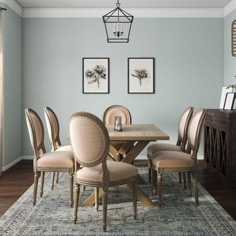 Farmhouse Dining Room Design by Havenly Interior Designer Tori