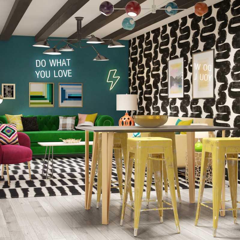 Eclectic, Glam, Preppy Office Design by Havenly Interior Designer Samantha
