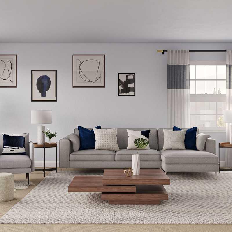 Modern Living Room Design by Havenly Interior Designer Crystal