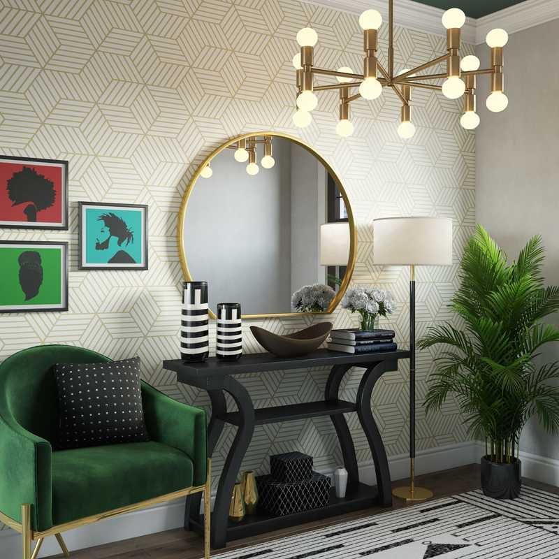 Modern, Glam Living Room Design by Havenly Interior Designer Abigail