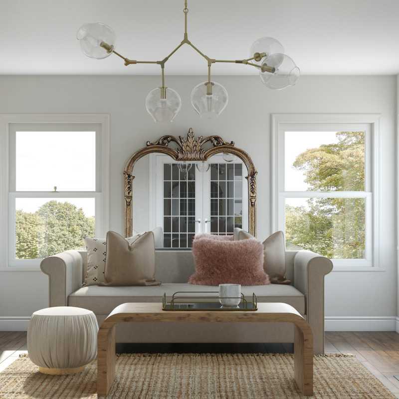 Modern, Glam, Scandinavian Living Room Design by Havenly Interior Designer Megan
