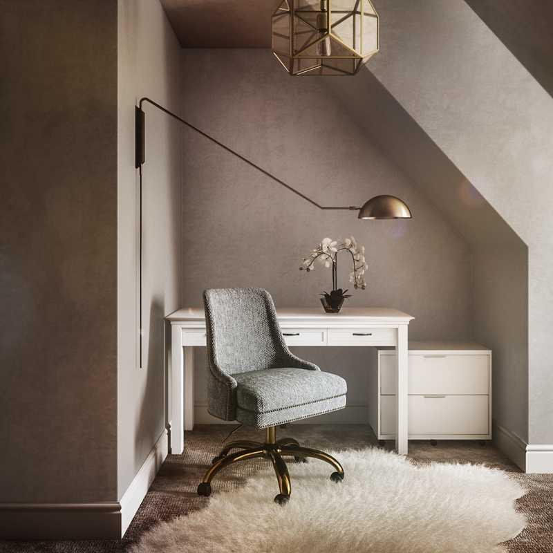 Glam Office Design by Havenly Interior Designer Pradnya