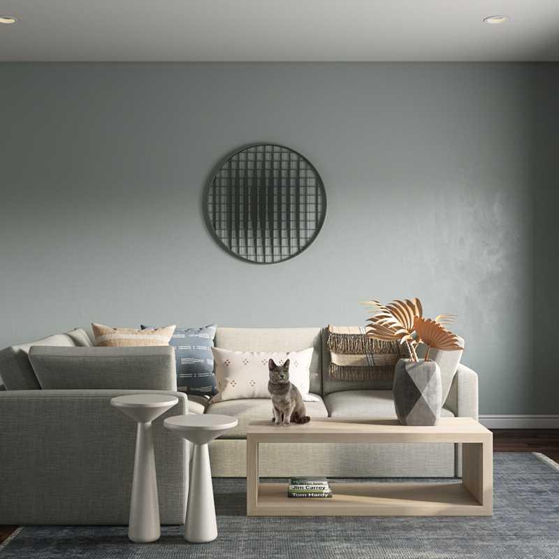 Coastal Living Room Design by Havenly Interior Designer Elyse
