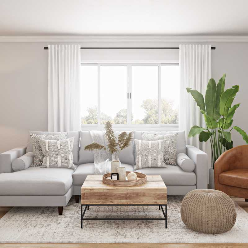 Modern, Bohemian, Midcentury Modern, Scandinavian Living Room Design by Havenly Interior Designer Kyla