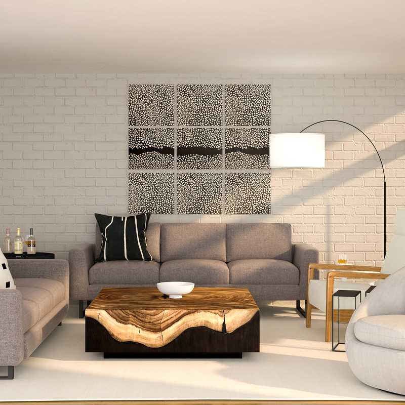 Contemporary, Modern Living Room Design by Havenly Interior Designer Robyn