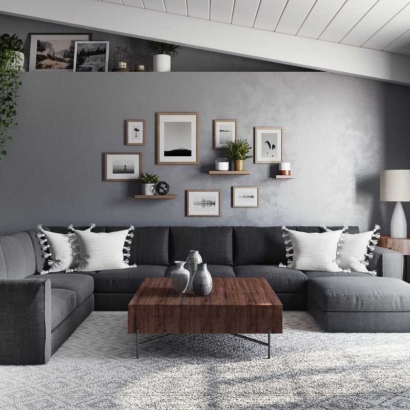 Modern, Scandinavian Living Room Design by Havenly Interior Designer Kiara
