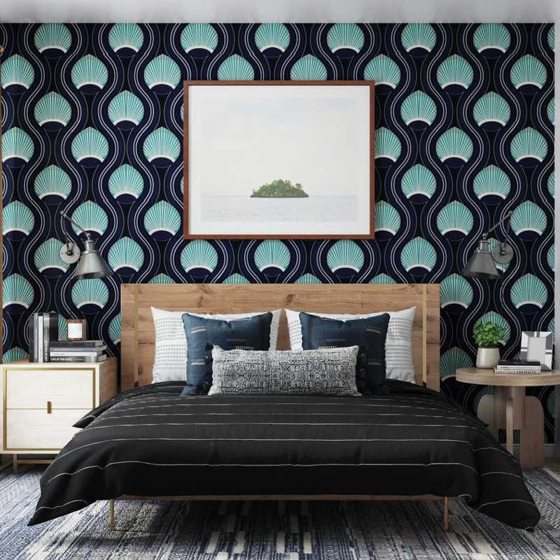 Contemporary, Eclectic Bedroom Design by Havenly Interior Designer Brady