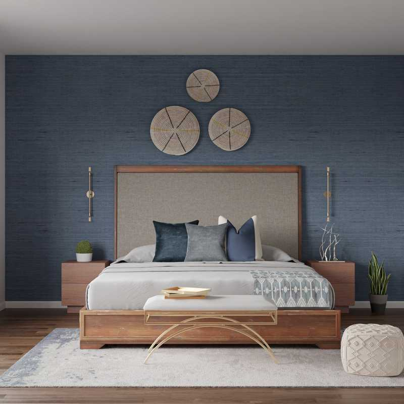Contemporary, Transitional, Midcentury Modern Bedroom Design by Havenly Interior Designer Apoovra
