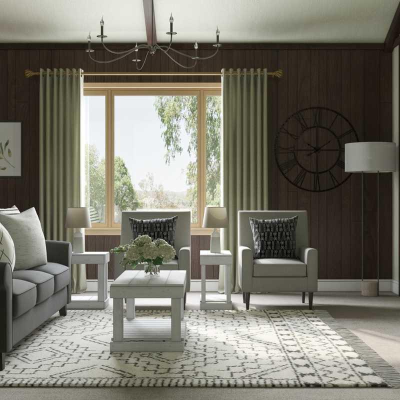 Modern, Farmhouse, Rustic Living Room Design by Havenly Interior Designer Emma