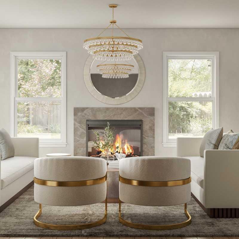 Modern, Glam Living Room Design by Havenly Interior Designer Tasha