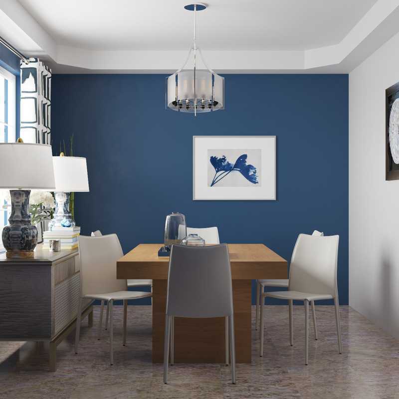 Contemporary, Modern, Glam Dining Room Design by Havenly Interior Designer Melisa