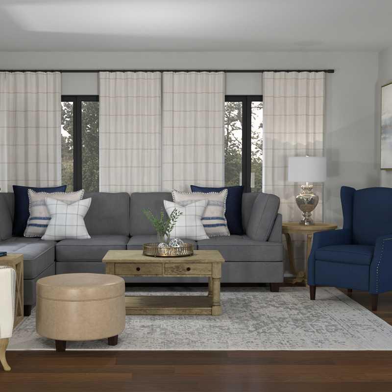 Transitional Living Room Design by Havenly Interior Designer Cathrine