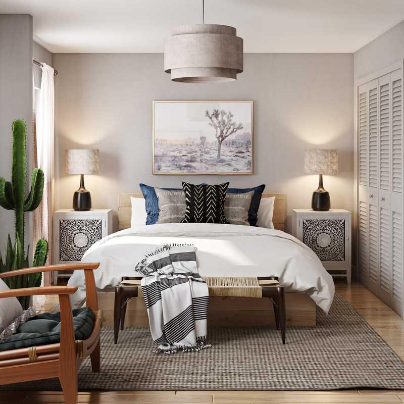 Bohemian, Coastal, Global, Scandinavian Bedroom Design by Havenly Interior Designer Leah
