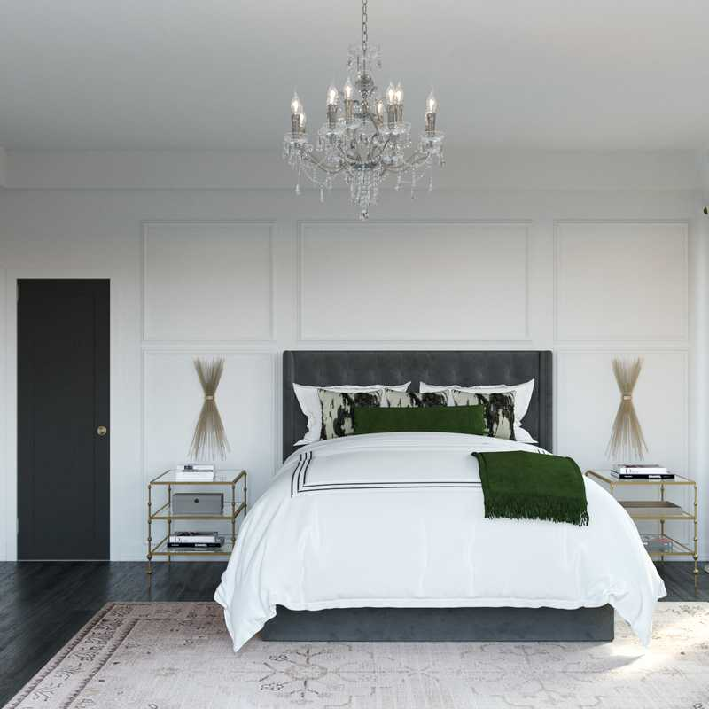 Contemporary, Glam Bedroom Design by Havenly Interior Designer Linlee