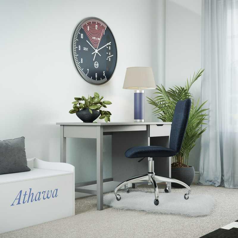Contemporary, Midcentury Modern Bedroom Design by Havenly Interior Designer Lilly