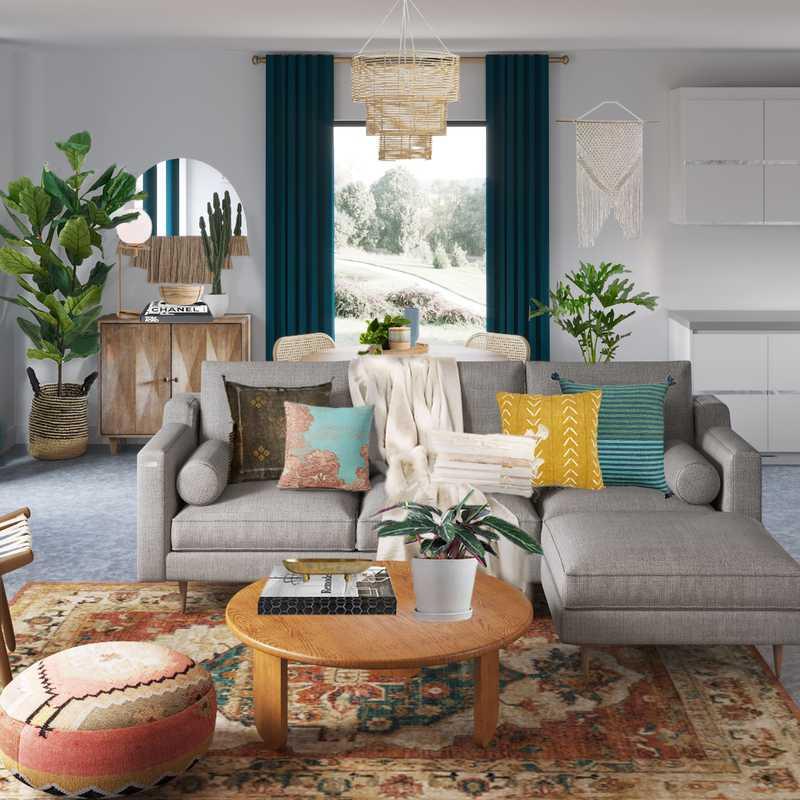 Modern, Bohemian, Rustic Living Room Design by Havenly Interior Designer Matthew