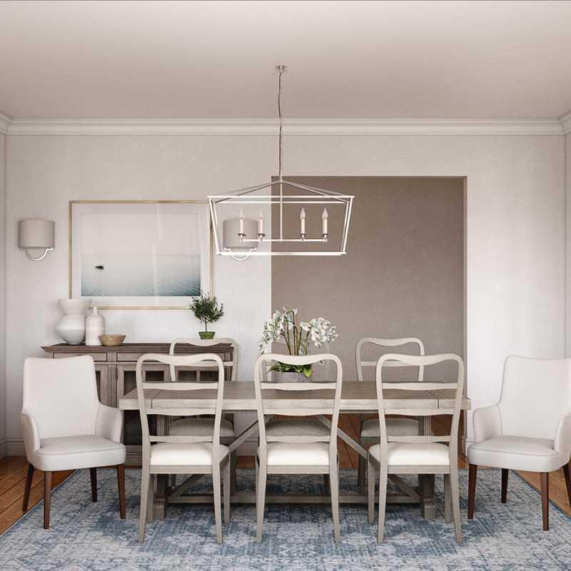 Coastal, Farmhouse Dining Room Design by Havenly Interior Designer Christy