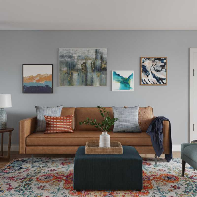 Eclectic Living Room Design by Havenly Interior Designer Marty