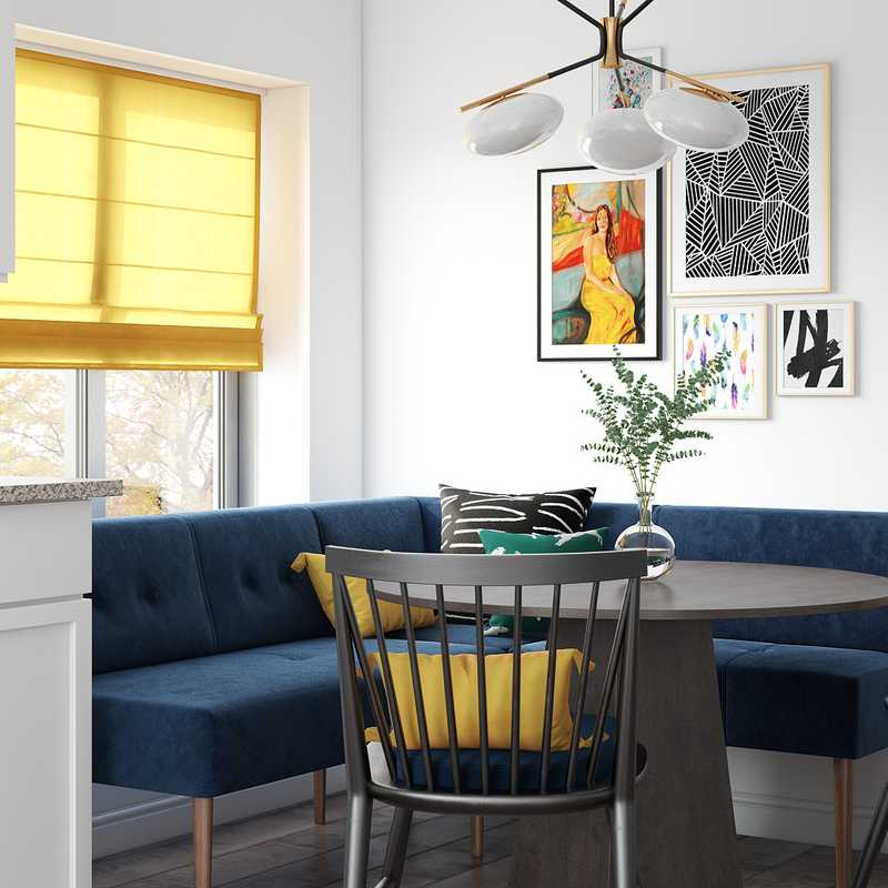 Modern, Classic, Eclectic, Midcentury Modern Dining Room Design by Havenly Interior Designer Sandra