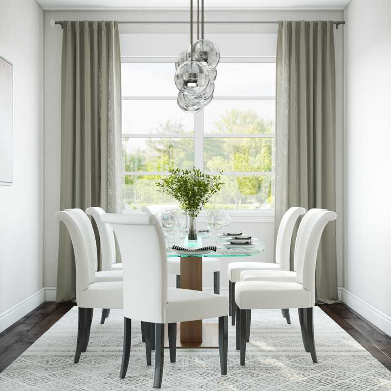 Contemporary, Modern, Midcentury Modern Dining Room Design by Havenly Interior Designer Julie
