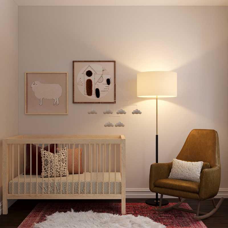 Bohemian, Scandinavian Nursery Design by Havenly Interior Designer Melissa
