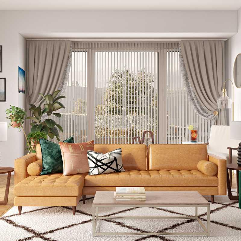 Modern, Glam, Midcentury Modern Living Room Design by Havenly Interior Designer Dani