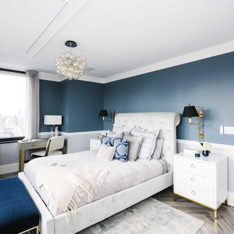 Contemporary, Classic, Glam Bedroom Design by Havenly Interior Designer Megan