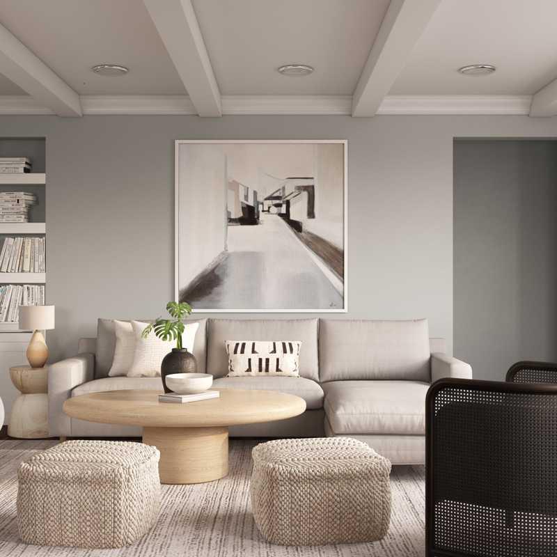 Modern, Minimal, Scandinavian Living Room Design by Havenly Interior Designer Stacy