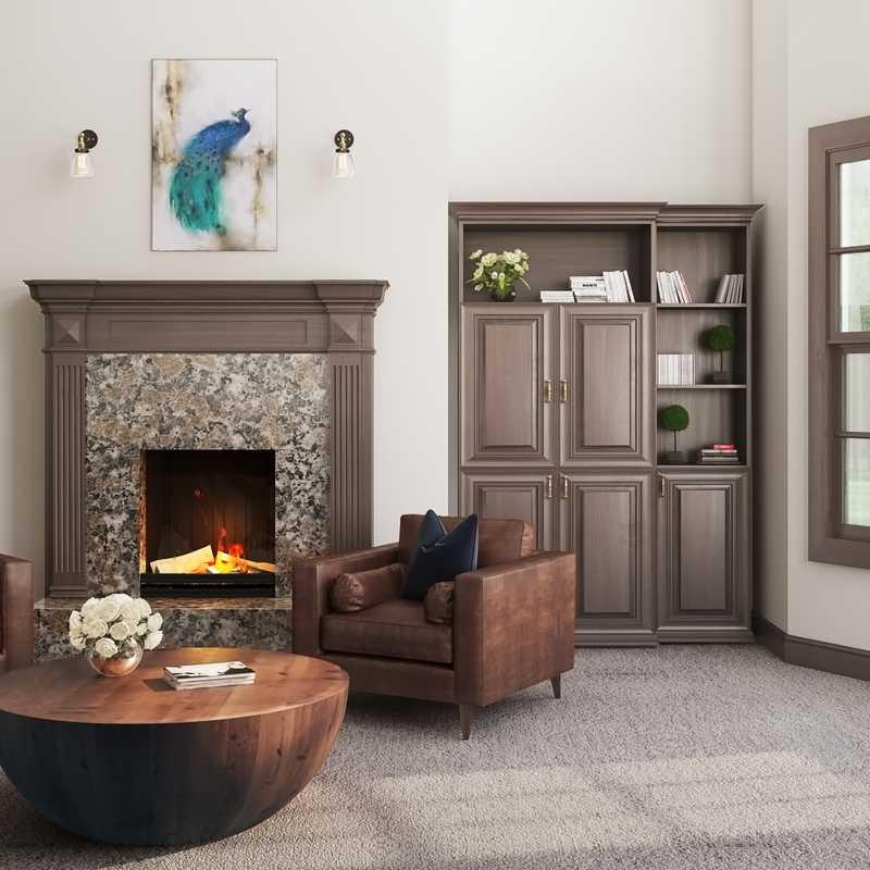 Modern, Classic, Glam, Rustic Living Room Design by Havenly Interior Designer Amelia